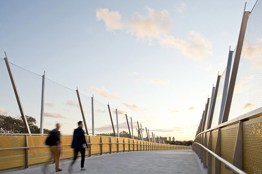 Jakob Rope Systems Webnet on Pedestrian Bridge in Sydney