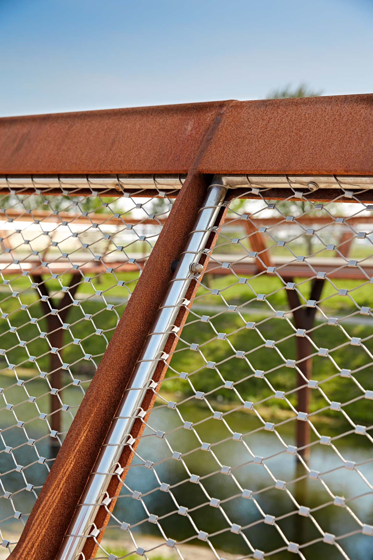 Webnet Frames securing bicycle bridge in Amsterdam
