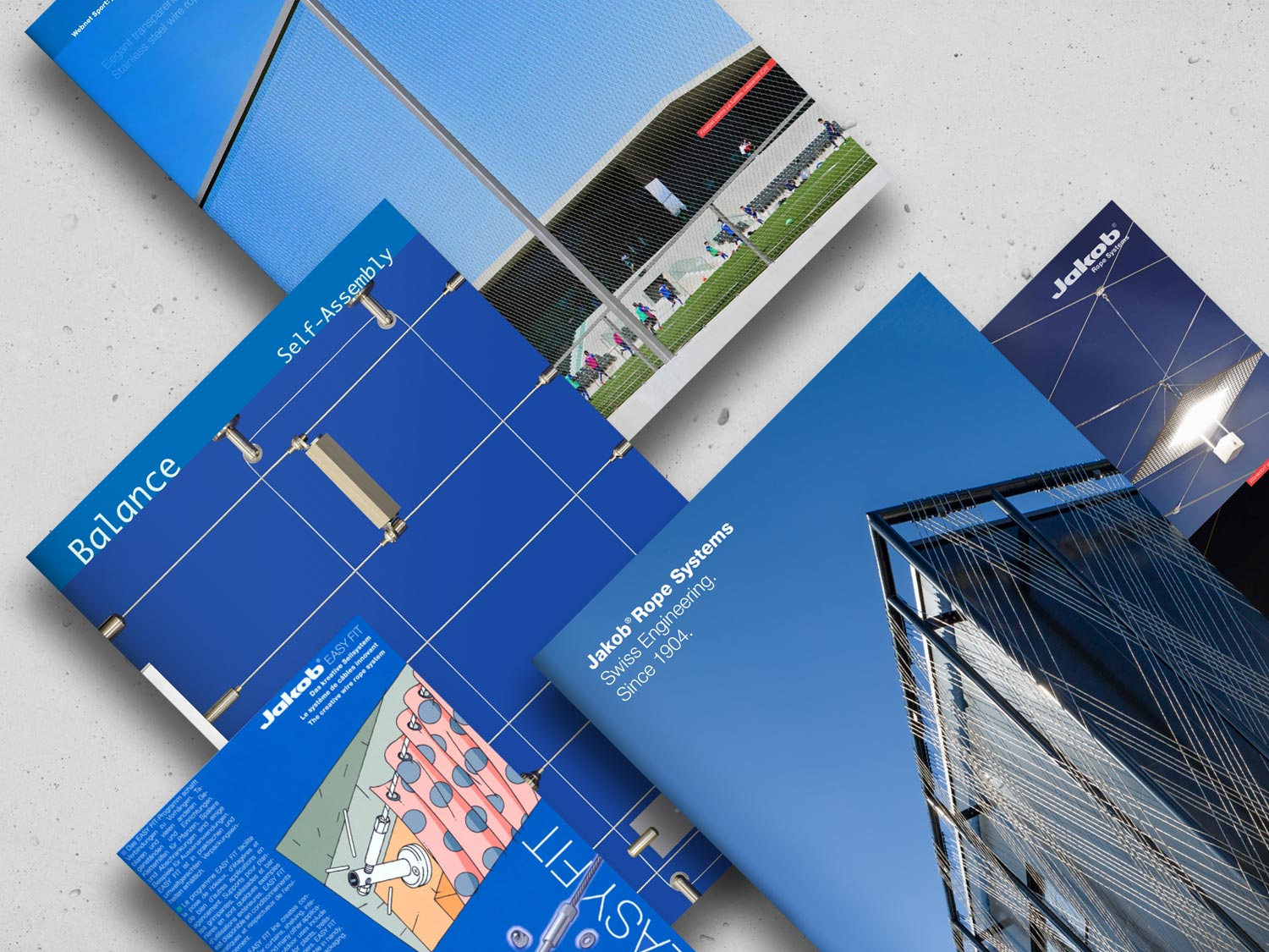 The collection of Jakob Rope Systems brochures
