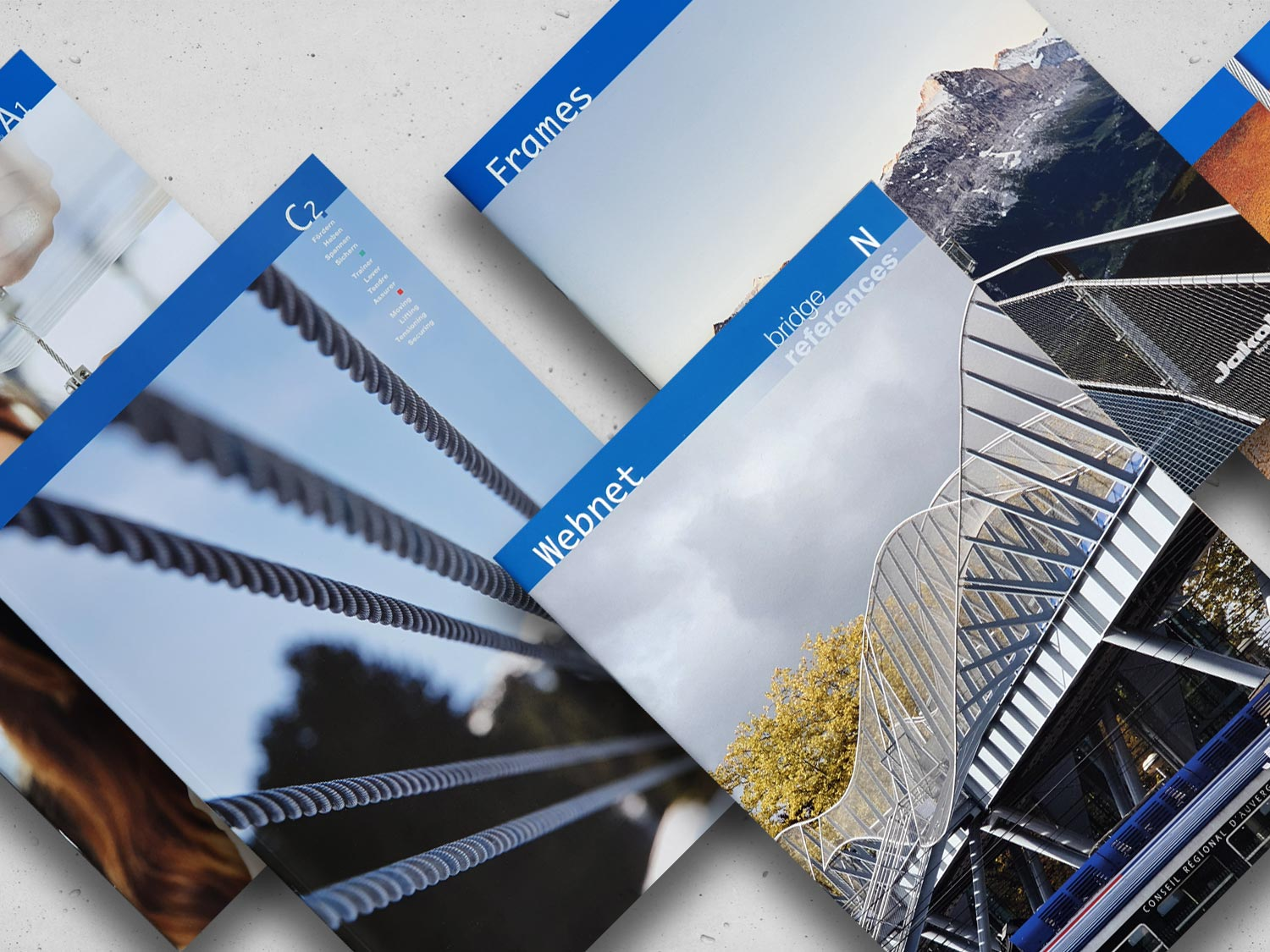 The collection of catalogues by Jakob Rope Systems