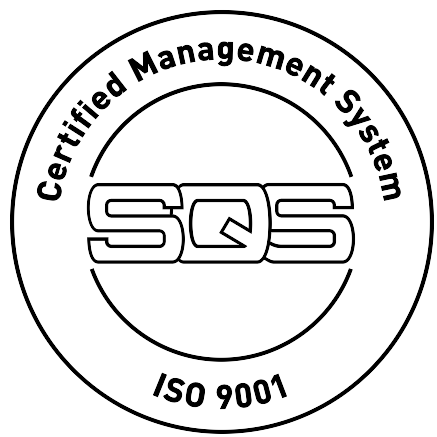 SQS certificate stamp for ISO 9001 in Trubschachen