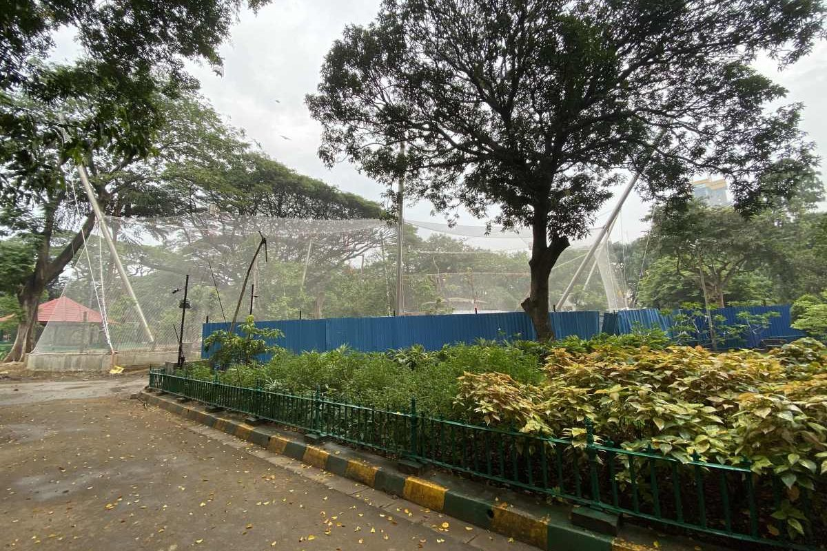The Webnet leopard enclosure in Byculla Zoo Mumbai